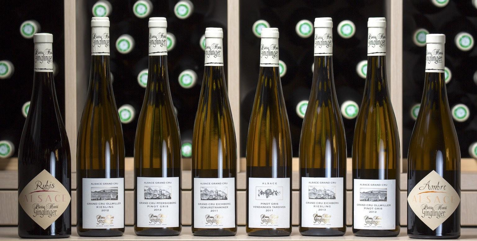 Toute la gamme des Vins & Crémants d'Alsace du domaine Ginglinger